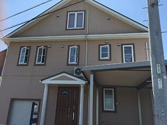 春日井市M様邸、外壁屋根塗替え工事前の外観写真