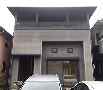 春日井市S様邸、外壁屋根塗装工事、施工前外観