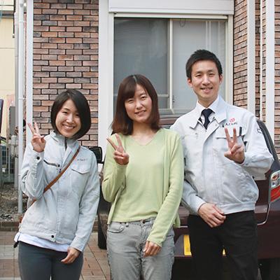 春日井市K様、お客様の声、記念撮影