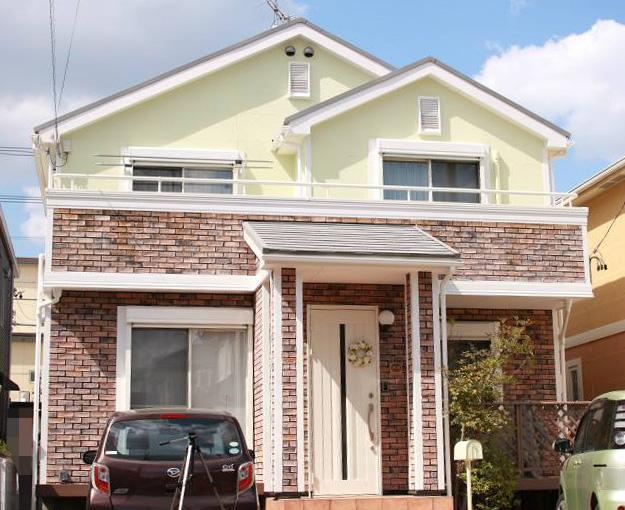 愛知県春日井市K様邸、断熱ガイナで外壁屋根塗替え工事の施工後の全景写真