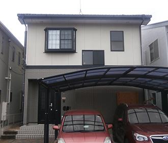 愛知県豊田市M様、外壁塗替え工事、施工前外観全景写真