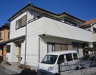 春日井市M様、ラジカルコートパーフェクトトップ外壁塗装、施工前外観画像