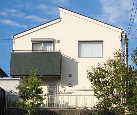 三重県桑名市M様、ベランダ色に西面濃いグリーンで決定した!