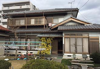 春日井市N様邸、外壁塗装工事前、外観全景写真