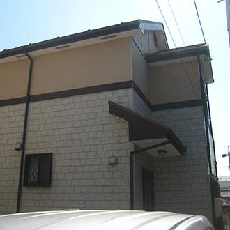 春日井市T様邸、外壁屋根塗替え、施工前、全景