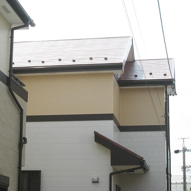 春日井市T様邸、外壁屋根塗替え、施工後、外観
