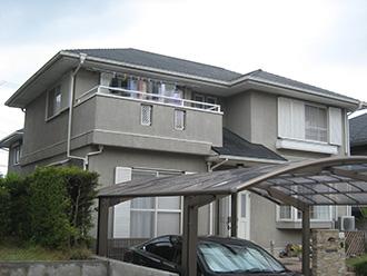 岐阜県可児市N様_外壁屋根塗装工事_施工前外観画像