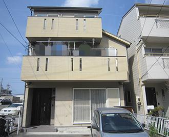 愛知県一宮市F様_外壁屋根塗装工事_施工前外観画像