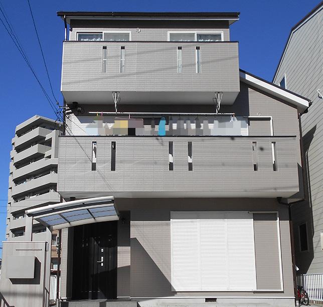 愛知県一宮市F様_外壁屋根塗替え工事_施工後全景写真