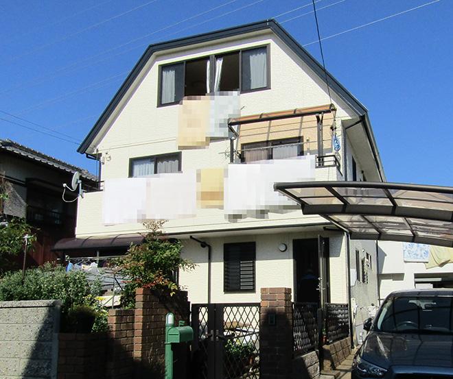 愛知県春日井市O様_外壁屋根塗替え工事_施工後全景写真