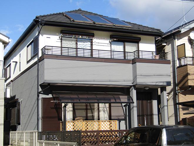 愛知県名古屋市T様_外壁塗替え工事_施工後全景写真