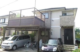 愛知県春日井市K様_外壁屋根塗装工事_施工前外観画像