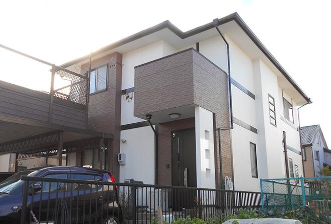 愛知県春日井市K様_外壁屋根塗替え工事_施工後全景写真