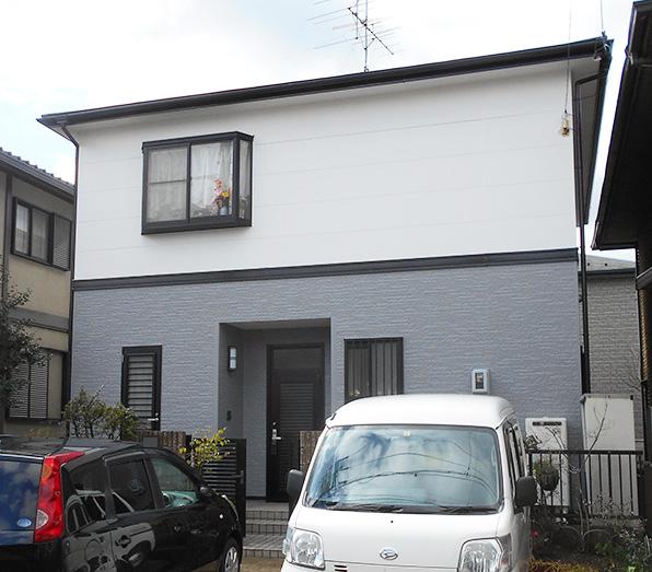 愛知県春日井市S様_外壁屋根塗替え工事_施工後全景写真
