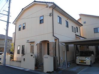 愛知県春日井市M様_外壁塗装工事_施工前外観画像