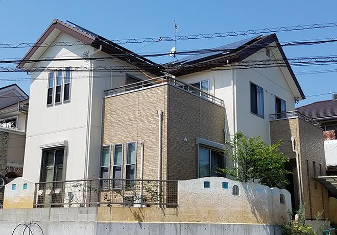 愛知県春日井市T様_外壁塗替え工事_施工後全景写真