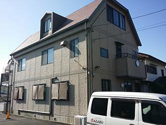 愛知県瀬戸市K様_外壁屋根塗装工事_施工前外観画像