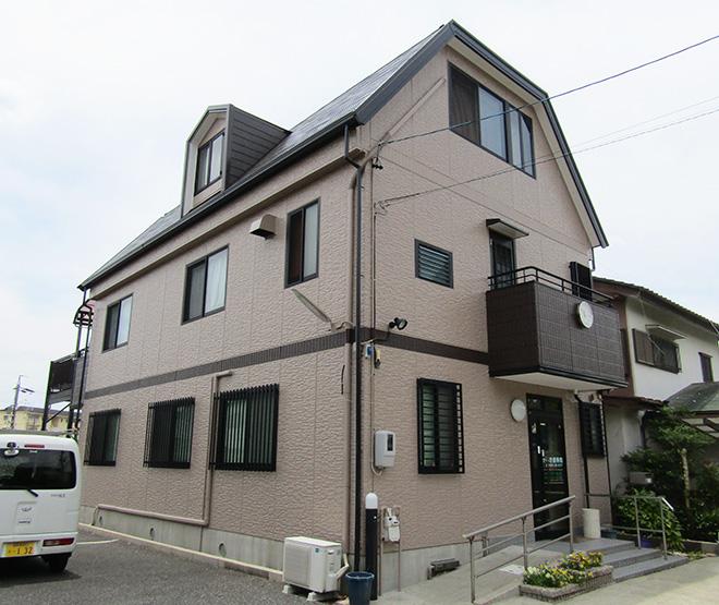 愛知県瀬戸市K様_外壁屋根塗替え工事_施工後全景写真