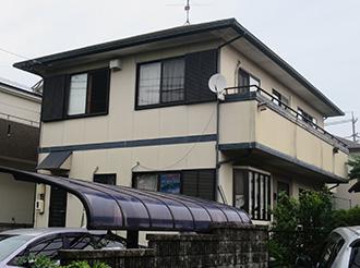愛知県春日井市W様_外壁屋根塗装工事_施工前外観画像