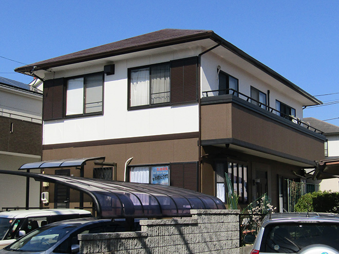 愛知県春日井市W様_外壁屋根塗替え工事_施工後全景写真