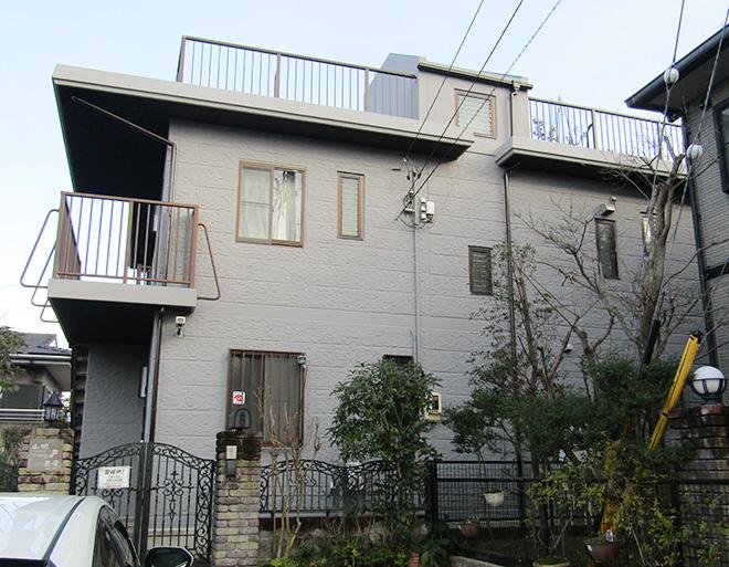 愛知県瀬戸市Y様_外壁塗替え工事_施工後全景写真