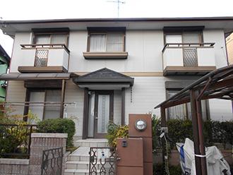愛知県小牧市K様_外壁屋根塗装工事_施工前外観画像