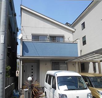 愛知県名古屋市H様_外壁屋根塗装工事_施工前外観画像