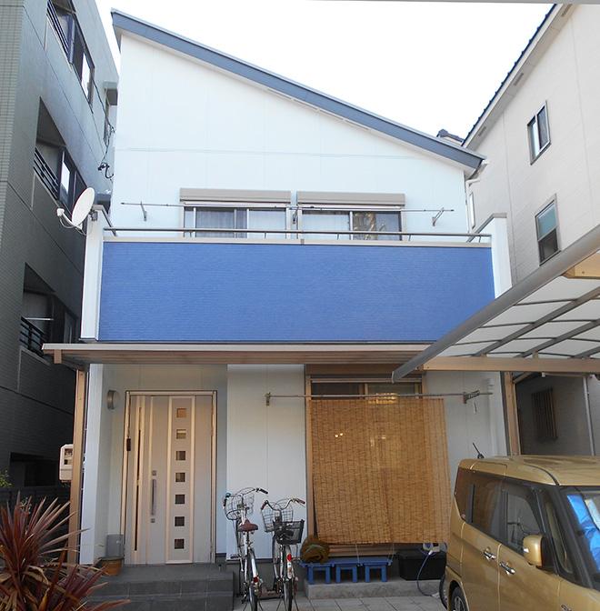 愛知県名古屋市H様_外壁屋根塗替え工事_施工後全景写真