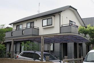 福岡県福岡市K様_外壁屋根塗装工事_施工前外観画像