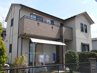 愛知県大垣市H様_外壁屋根塗装工事_施工前外観画像
