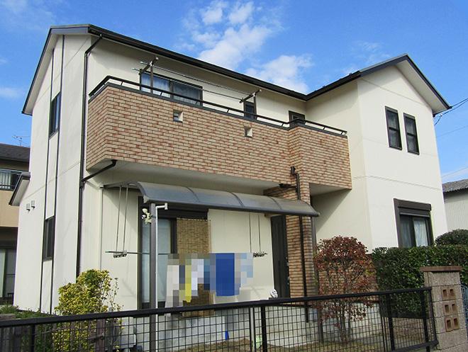 愛知県大垣市H様_外壁屋根塗替え工事_施工後全景写真