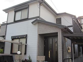 愛知県春日井市S様_外壁屋根塗装工事_施工前外観画像