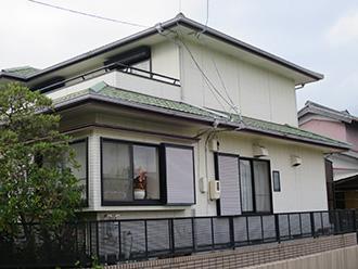 三重県四日市市M様_外壁(再現工法)屋根塗装工事_施工前外観画像