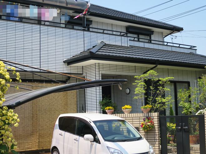 三重県四日市市M様_外壁(再現工法)屋根塗装工事_施工後全景写真3