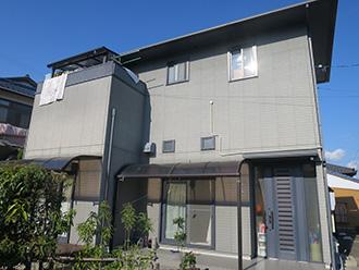 愛知県岡崎市M様_外壁屋根塗装工事_施工前外観画像