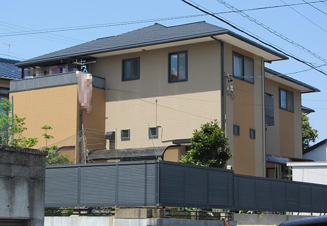 愛知県岡崎市M様_外壁屋根塗替え工事_施工後全景写真