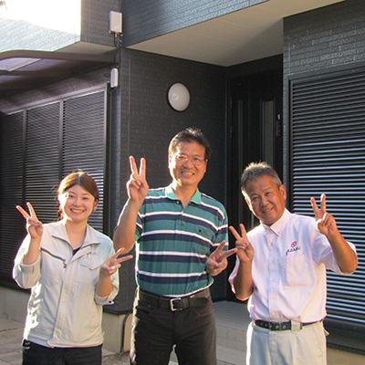 愛知県春日井市N様_外壁屋根塗替工事_お客様の声_記念撮影