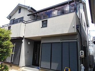 愛知県春日井市N様_外壁屋根塗装工事_施工前外観画像_株式会社麻布