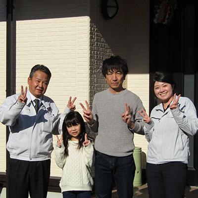 愛知県豊川市H様_外壁塗装工事_お客様の声_記念撮影